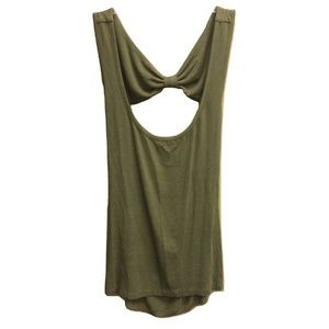 NWT Emma Sam Bow Detail Open Back Stretch Tank Top